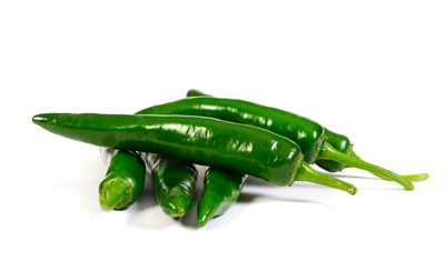 Fresh Green Cayenne Chillies