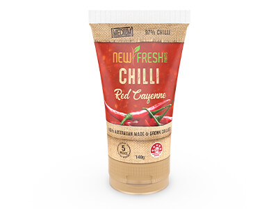 New Fresh Farms Chilli Puree Red Cayenne Tube